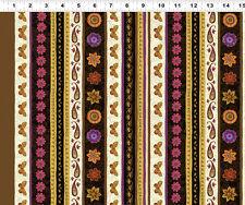 Brown Stripe - Spice Garden By Sue Zipkin for Clothworks Fabrics HALF YARD