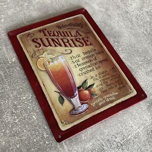 Vintage, Retro Metallschild - Tequila Sunrise Werbeschild, Blechschild #A11