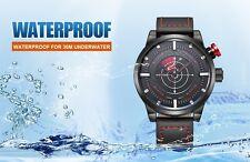 Reloj Deportivo Japón Movimiento de cuarzo para hombre Reloj Resistente Al Agua Ideal Regalo