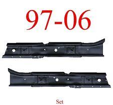 97 06 Jeep Wrangler TJ Front Floor Brace Set, Left & Right Sides