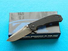 Zero Tolerance ZT 0566BW Framelock Folding Knife! Blackwashed Flipper w/ Elmax!