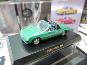Kyosho - PORSCHE Collection 3 - 914 Green - 1/64 - Mini Toy Car - A20