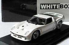 LAMBORGHINI MIURA SVJ ROADSTER WHITE 1981 WHITEBOX WB509 1/43 WEISS BIANCA BLANC