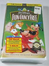VHS Movie: Fun and Fancy Free Sealed/New Masterpiece Collection Limited Edition