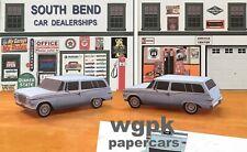 Papercraft 1961 Studebaker Lark VI 2 door station wagon 1pc U-make
