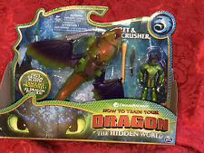 How To Train Your Dragon The Hidden World: Eret and Skullcrusher NIB New