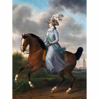 Haag Wilhelmina Horse Equestrian Portrait Painting Wall Art Canvas Print 18X24