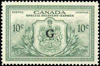 Canada Mint NH 1950 VF 10c Overprinted G Scott #EO2 Special Delivery Stamp