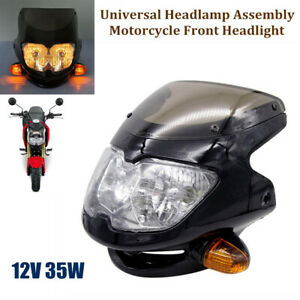 12V 35W Universal Headlamp Assembly Motorcycle Headlight with Turn Signal Light
