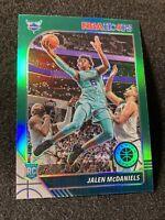 2019-20 Panini NBA Hoops Premium Stock JALEN MCDANIELS Green Prizm RC Hornets 🔥