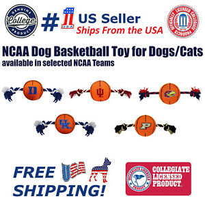 NCAA Dog Basketball toy for Dogs / Cats - Durable, Heavy Duty and Squeaky Toy