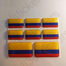 Pegatinas Colombia Pegatina Bandera Colombia Vinilo Adhesivo 3D Relieve Resina