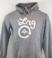 LRG Lifted Research Group Hoodie Grey Spell Out Big Logo Skate Sz Medium / M Men