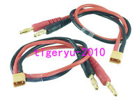 XT30 male to 4mm banana Bullet Male charger lead cable for Accucel Imax etc