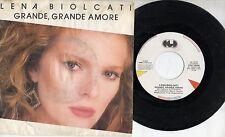 LENA BIOLCATI disco 45 ITALY Grande amore STAMPA ITALIANA Sanremo 1985 POOH