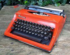 alte Schreibmaschine Reiseschreibmaschine Typewriter Adler Contessa de Luxe rot