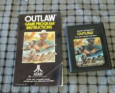 Atari 2600 Outlaw cx2605 with instruction manual