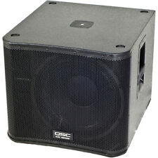 "QSC KW181 18"" Powered Sub Active PA LoudSpeaker w/ M20 Pole for Speaker"