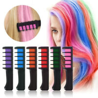 6 Color Temporary Hair Chalk Hair Color Comb Dye Salon Kits Party Fans Cosplay Y