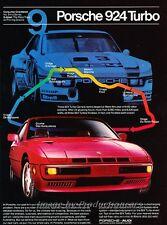 1981 Porsche 924 Turbo No. 9 -  Original Advertisement Print Car Ad J453