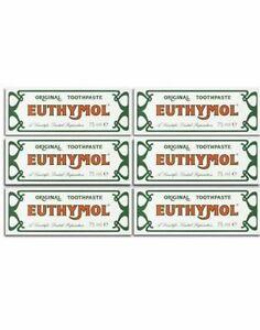 Euthymol Original Toothpaste 75ml x 6 tubes