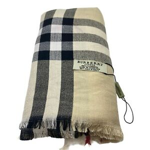 ESTATE PRE OWNED BURBERRY SCARF LARGE BEIGE 71 X 28