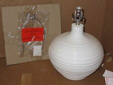 NIB West Elm Channel Ceramic Table Lamp, Small, White, NEW IN BOX