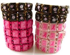 12pcs mix Breast Cancer Awareness Survival Bracelet AIDS Awareness Ribbon Red
