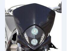 Tete de fourche plaque phare 2 x 20 W + LED NOIR Moto Cross Enduro XTREMRACE