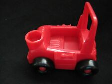 Fisher Price Little People RED FARM TRACTOR TRUCK for FARMER FIELD Vehicle