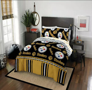 Pittsburgh Steelers Bedding Set NFL Sheets 5 pc Comforter FULL SIZE