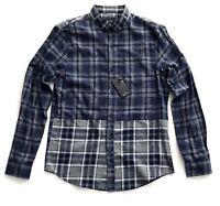 Armani Exchange Nwt Blue Gray Double Plaid Flannel Long Sleeve Shirt M L XL XXL