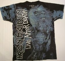 Vintage Iron Maiden Live After Death All Over Print T-Shirt- Size M B3