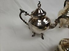 Vintage Two Silver-Plated Tea Pots And One Creamer