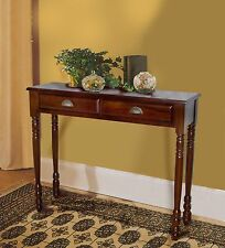D-ART Hall Table 2 Drw- in mahogany wood