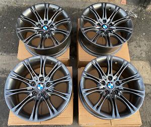 "Genuine BMW MV2 135M 18"" Alloy Wheels: Gun Metal Grey E60 E61 E90 E91 E92 E93"