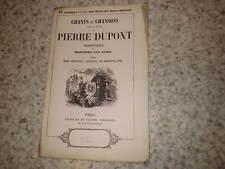 1850.Chants chansons.125e liv.Les cerises.Pierre Dupont