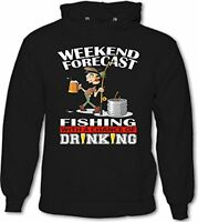 Weekend Forecast Fishing With A Chance Of Drinking - Mens Funny Hoodie Fisherman