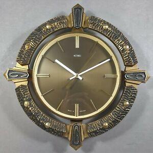 Vintage Brutalist Metamec Wall Clock Working Order