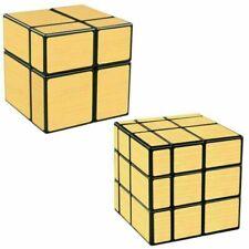 Qiyi Gold Mirror 2x2 3x3 Magic Cube Ultra Speed Cube Twist Puzzle kid Toy Gift
