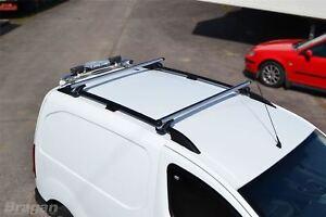 To Fit 14+ Ford Transit Connect LWB Black Aluminium Roof Rails + Cross Bars