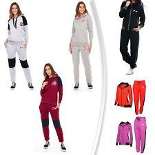 Women's Athletic Full Zip Fleece Tracksuit Sweatsuit Hooded Top