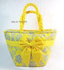 NaRaYa Bag - Thai Small Handbag Yellow Scene and Chrysanthemum