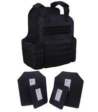 Tactical Scorpion 4 Pc Level III AR500 Body Armor Muircat 11x14 Vest - Black