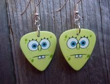 SpongeBob Blank Stare Guitar Pick Earrings