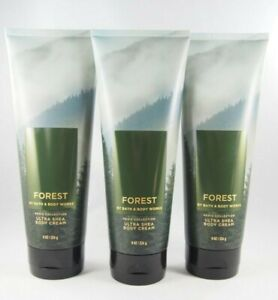 (6) Bath & Body Works Forest Men's Collection Ultra Shea Body Cream 8oz New