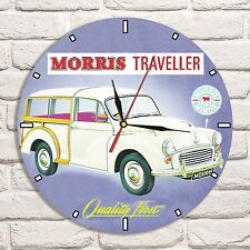 Morris Minor Traveller Color design vinyl record wall clock home shop garage