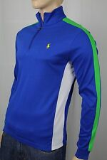 Polo Ralph Lauren Royal Blue 1/2 Half Zip Pima Cotton Mockneck Pullover NWT