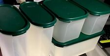 10 Pc New Vintage Tupperware Modular Mates Kitchen Set GREEN SEALS