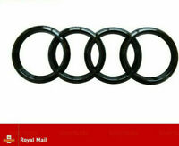 AUDI GLOSS BLACK REAR BOOT RINGS BADGE EMBLEM S LINE A3 S3 RS3 A4 A5 A6 TT 193mm